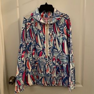 Lilly Pulitzer Red Right Return Skipper Popover